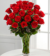 The long stem red roses